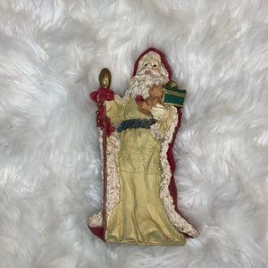 NWOT Antique Christmas Santa Claus glass figurine